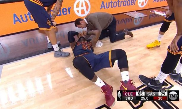 LeBron Gets Knocked out of Game From Soft Elbow