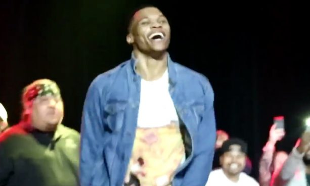 Migos brought Russell Westbrook on stage for Bad and Boujee MVP Remix