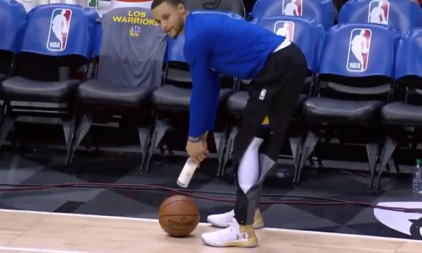 Steph Curry's Pregame Routine Has Jumped the Shark