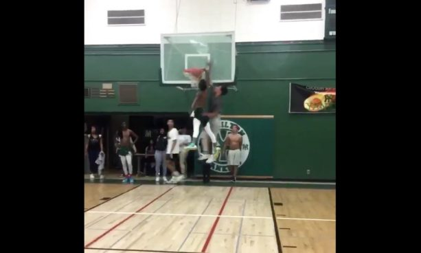 High School Kid Shatters the Backboard