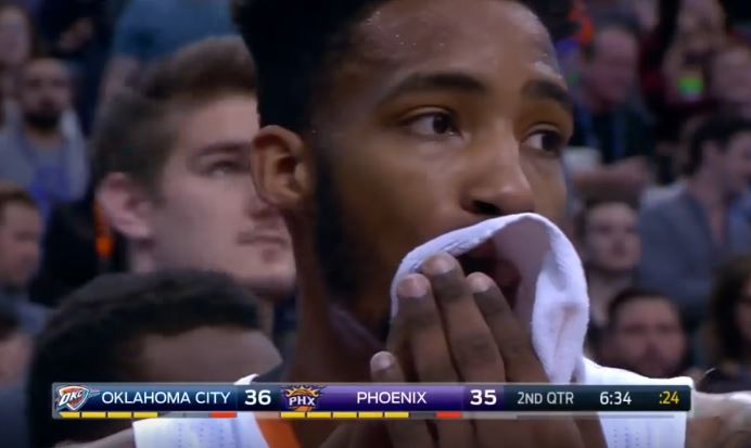 Russell Westbrook Elbowed Derrick Jones Jr. In The Mouth