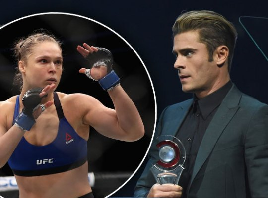 Zac Efron Crushing on Ronda Rousey