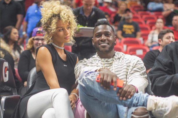 Antonio Brown's Pregnant Baby Mama Not Happy That He's Dating an IG Model