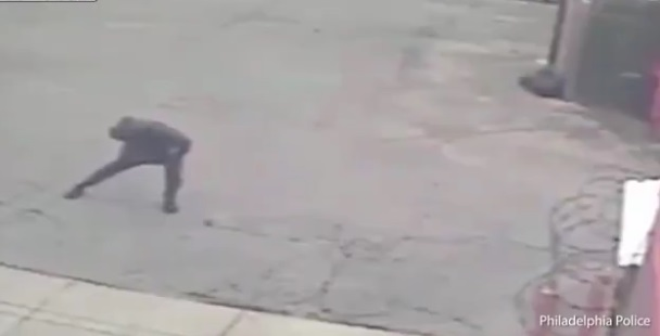 Armed Robber Warms up and does Some Stretching Pre Heist
