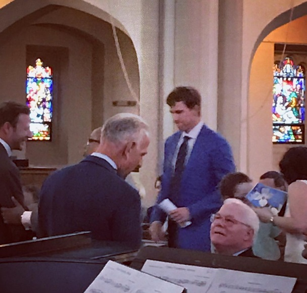 Eli Manning Went to Church on Easter Sunday to Pray