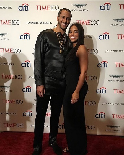 Colin Kaepernick and Girlfriend Stand up for Time 100