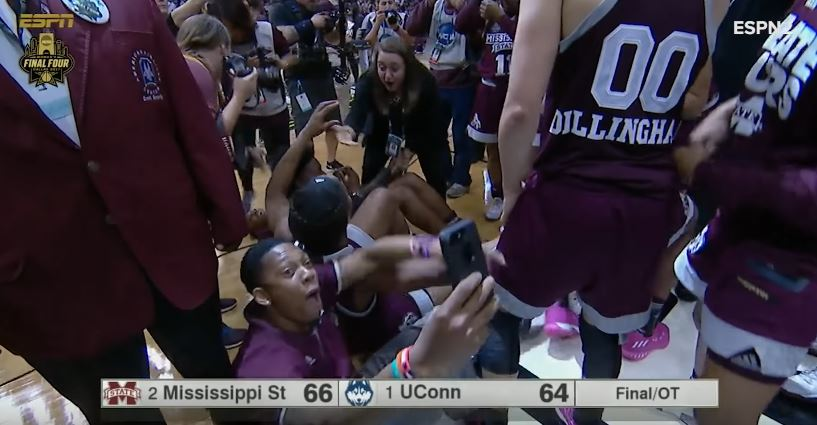 Mississippi State Ends UConn's Win Streak at 111 With a Buzzer Beater in Overtime