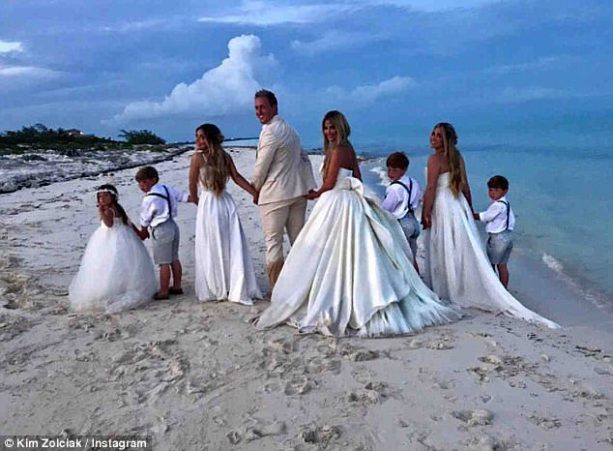Former NFL Wife Goes Topless After Renewing Her Vows with Kroy Biermann