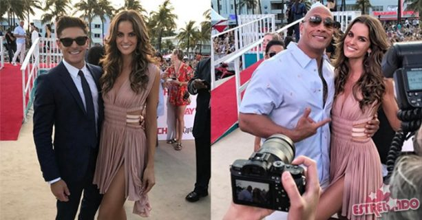 Brazilian Model Suffers Wardrobe Malfunction at Baywatch Premiere