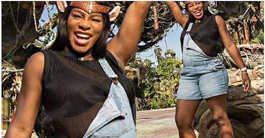 Serena Williams goofs around at Disney's Animal Kingdom