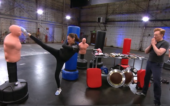 Conan Works Out With Wonder Woman Gal Gadot