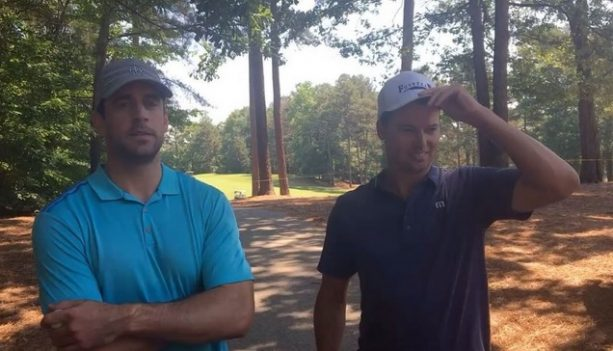 What does Aaron Rodgers Admire most about Professional Golfers?