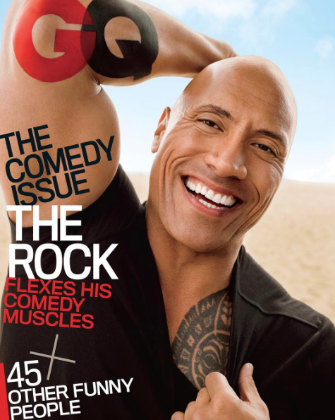 The Rock Covers GQ Magazine