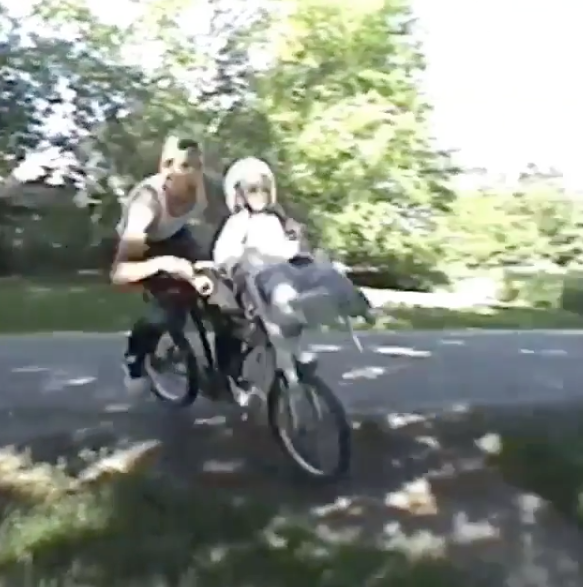 Guy Takes Kid On Bike Jumps And Fails