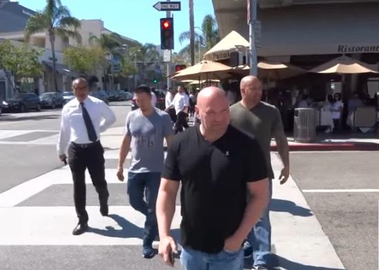 Dana White Shopping in Beverly Hills