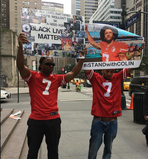 Kaep's Life Matters; Kaepernick Supporters Gather in New York