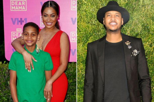 Ringless LaLa Anthony Puts Son on Display; Carmelo Reacts