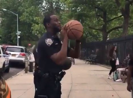 This Police Officer Has Steph Curry Range