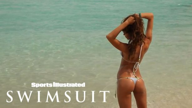 Irina Shayk Almost Loses Her Bikini Bottoms During Her Beach Shoot