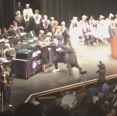 Graduate Punches Two Teachers in Face at Graduation Ceremony