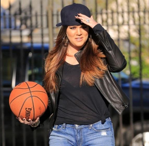 NBA Queen Khloe Caught Spliffing on the Job