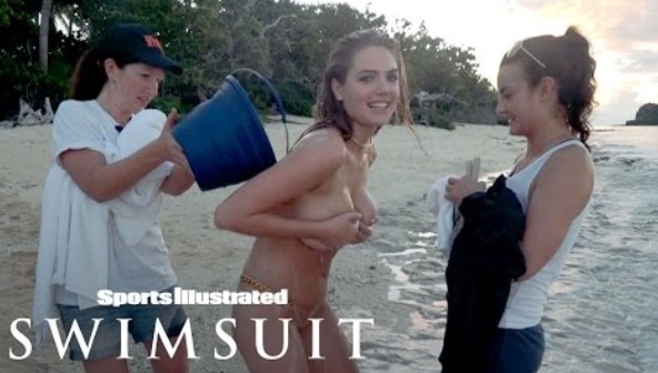 Kate Upton Goes Topless, Shakes Her Hips In Fun Fiji Shoot