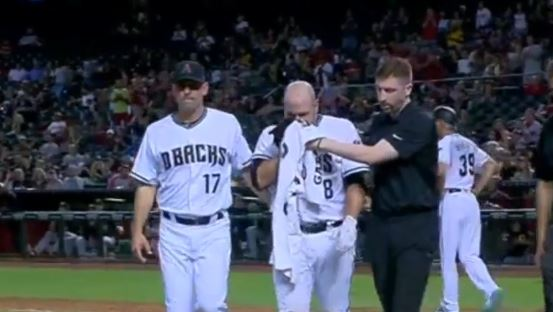 Diamondbacks Catcher Takes A Fastball To The Face