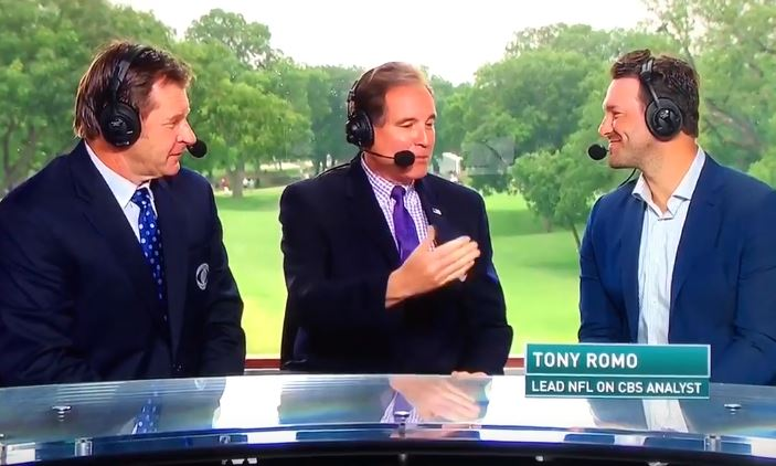 Tony Romo Makes His First CBS Sports Appearance