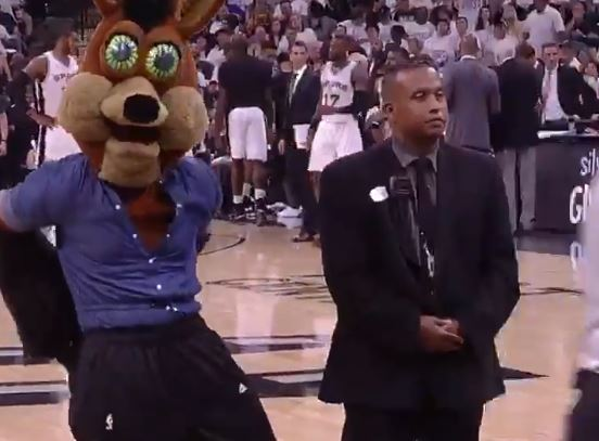 The Spurs Mascot Danced Around In A Romper