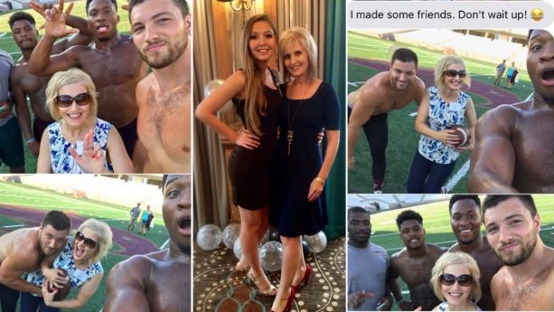 Why This Mom Took Selfies With Shirtless College Football Players