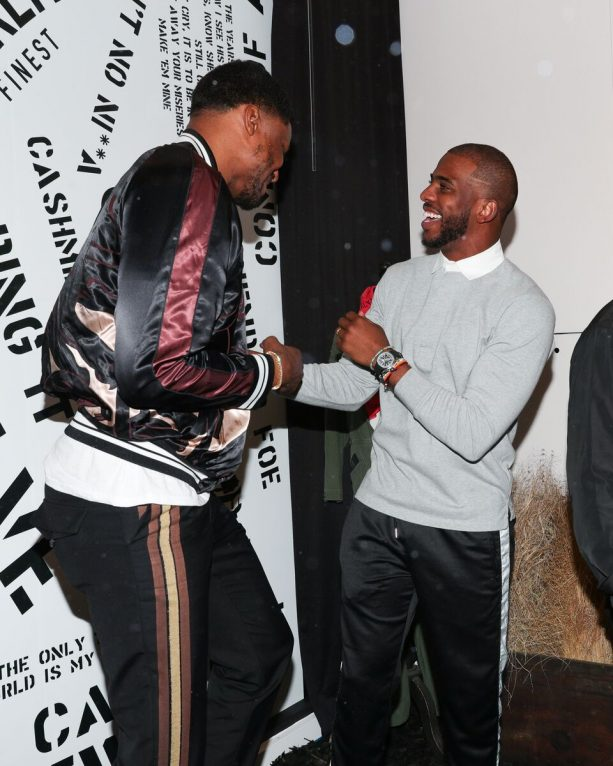Chris Paul and Rudy Gay Hobnob with Celebs