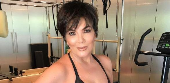 Kris Jenner Accused of Wonky Sexy Gym Selfie