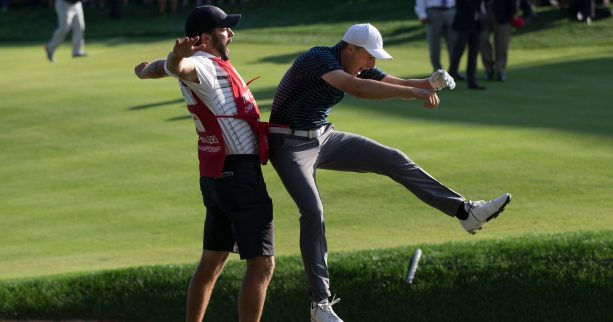 Jordan Spieth Brings the WWE to The Golf Course