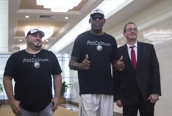 Dennis Rodman on His Way to North Korea for 'Basketball Diplomacy'
