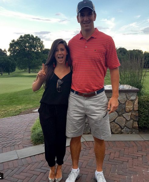 Eli Manning Female and Caddy Friendly at the Course