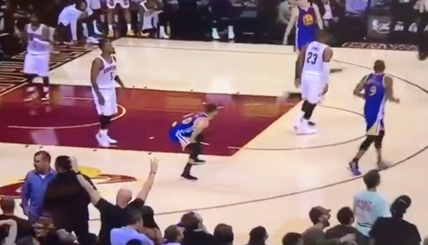Did Steph Curry Fake A Dump On The Cavaliers Home Court During Game 3?