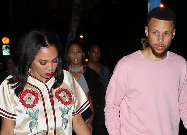 Steph Curry & Wife Ayesha Out To Dinner