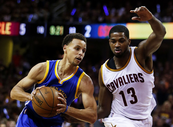 Steph Curry Out-Rebounding Tristan Thompson in Finals