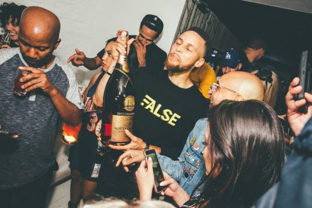 Warriors Celebrate At Harlot Nightclub with over $150,000 worth of Moet & Chandon Champagne