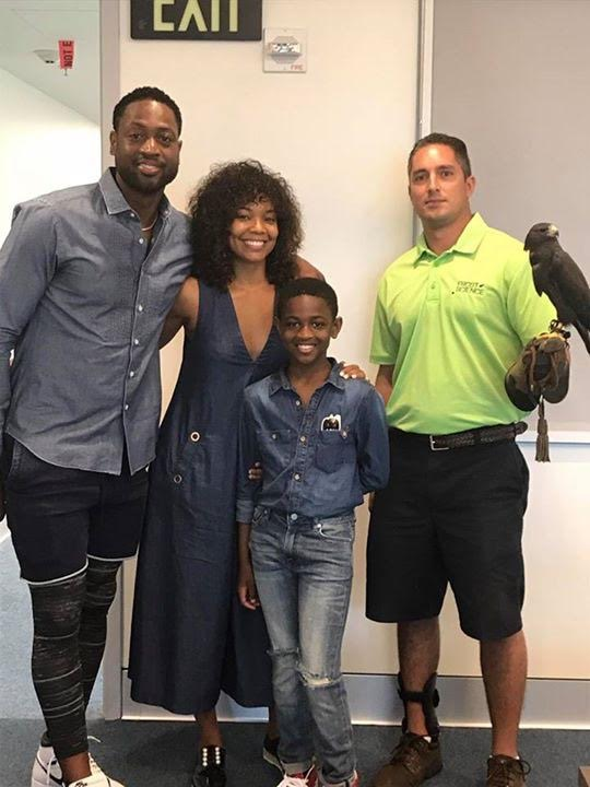 Sighting: Dwyane Wade and Gabrielle Union at Frost Science