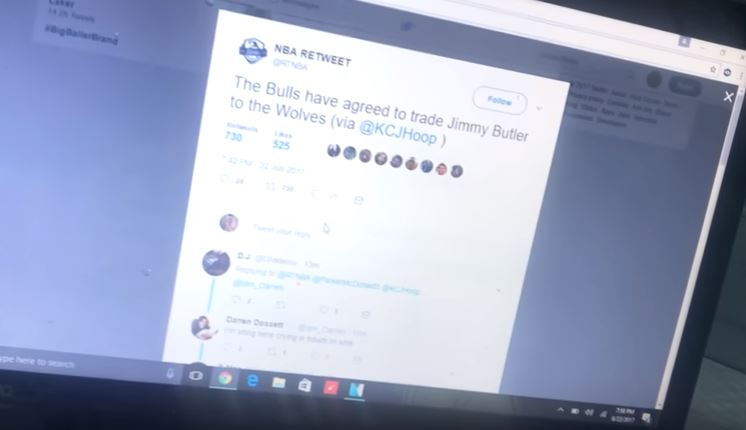 Bulls Fan Goes On A NSFW Rant After Learning That Jimmy Butler Had Been Traded