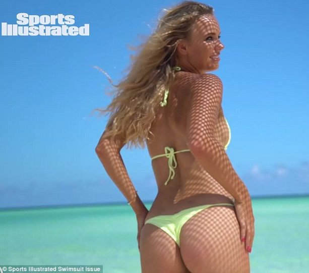Caroline Wozniacki Gets Wet, Gives You A Cheeky Show