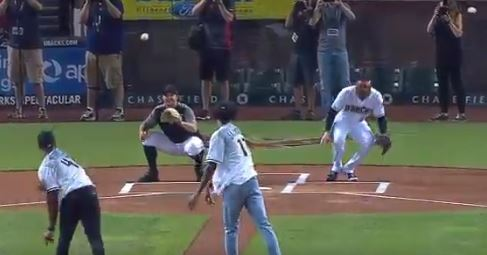 Josh Jackson's First Pitch Attempt Was 50 Cent Bad