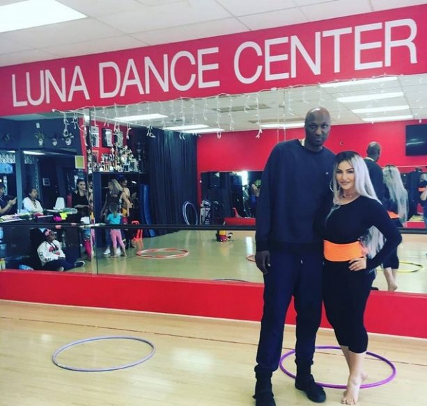 Lamar Odom Ratchets up the Excitement at Dance Studio