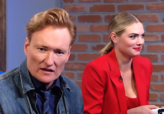 """Clueless Gamer: """"Cuphead"""" With Kate Upton – CONAN on TBS"""