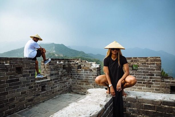 Ciara and Russell Wilson Zip Down the Great Wall of China