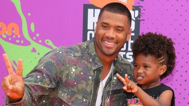 Russell Wilson and Step Son Hit the Nick Kids' Choice Awards