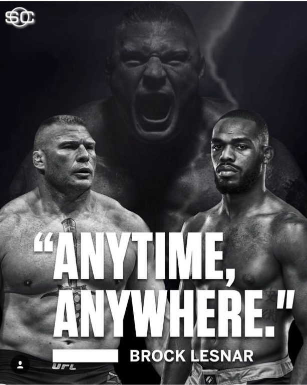 Jon Jones Wants Brock Lesnar Next?