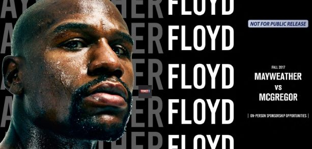 Floyd Mayweather Selling himself like a NASCAR – All the On Person Sponsorship
