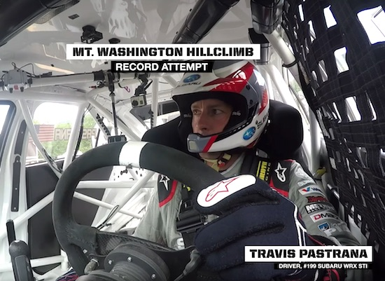Travis Pastrana RECORD RUN POV – Mt. Washington Hillclimb